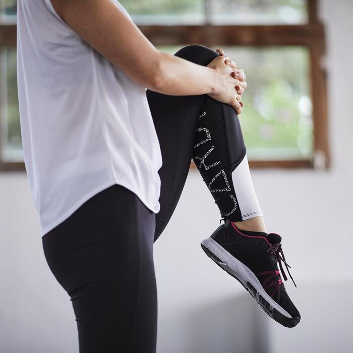 Fitnessschoenen Cardio 100 voor dames zwart en roze