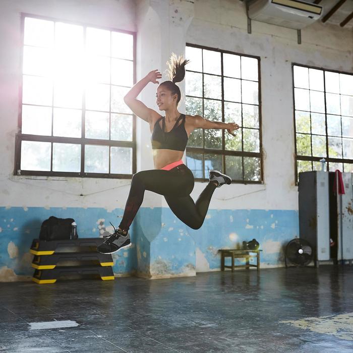 Chaussures fitness cardio-training 500 femme bleu et - 1357220
