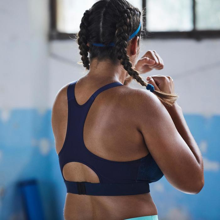 Bandeau élastique (lot de 3) fitness cardio-training femme rose et - 1357232