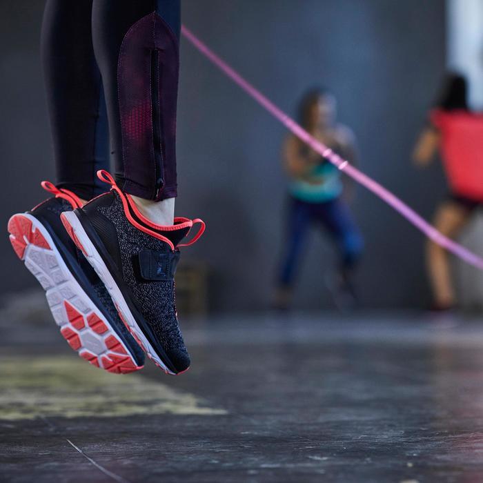 Chaussures fitness cardio-training  500 mid femme bleu et rose - 1357234