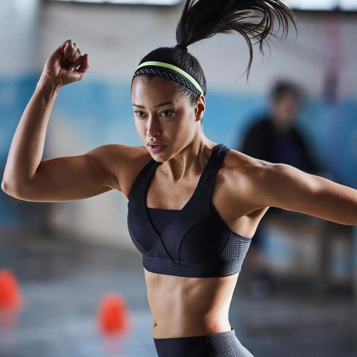 Brassière fitness cardio-training femme noire 900 - 1357241