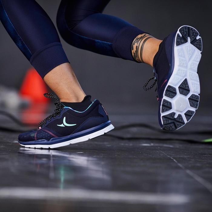 Chaussures fitness cardio-training 500 femme bleu et - 1357242