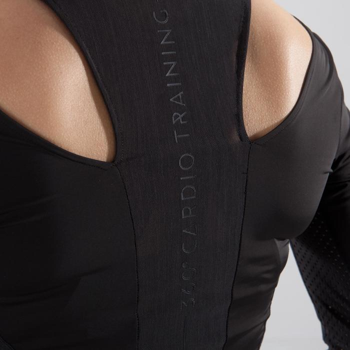Cropped top fitness cardio-training femme noir 900