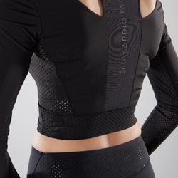 Crop Top FJA 900 Cardio Fitness Damen schwarz