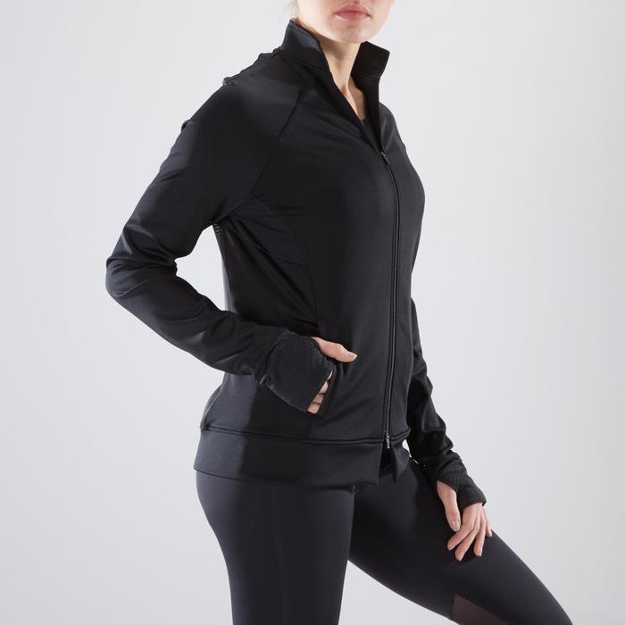 900 Women's Fitness Cardio Training Jacket - Black