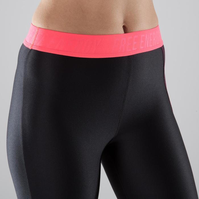 7/8-Leggings Cardio 500 Fitness Damen schwarz/rosa
