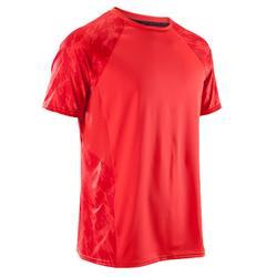Fitness T-shirt FTS500 voor heren, voor cardiotraining, rood