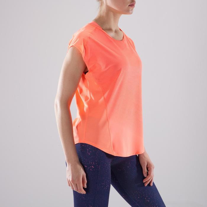 Camiseta amplia fitness cardio-training mujer coral 120