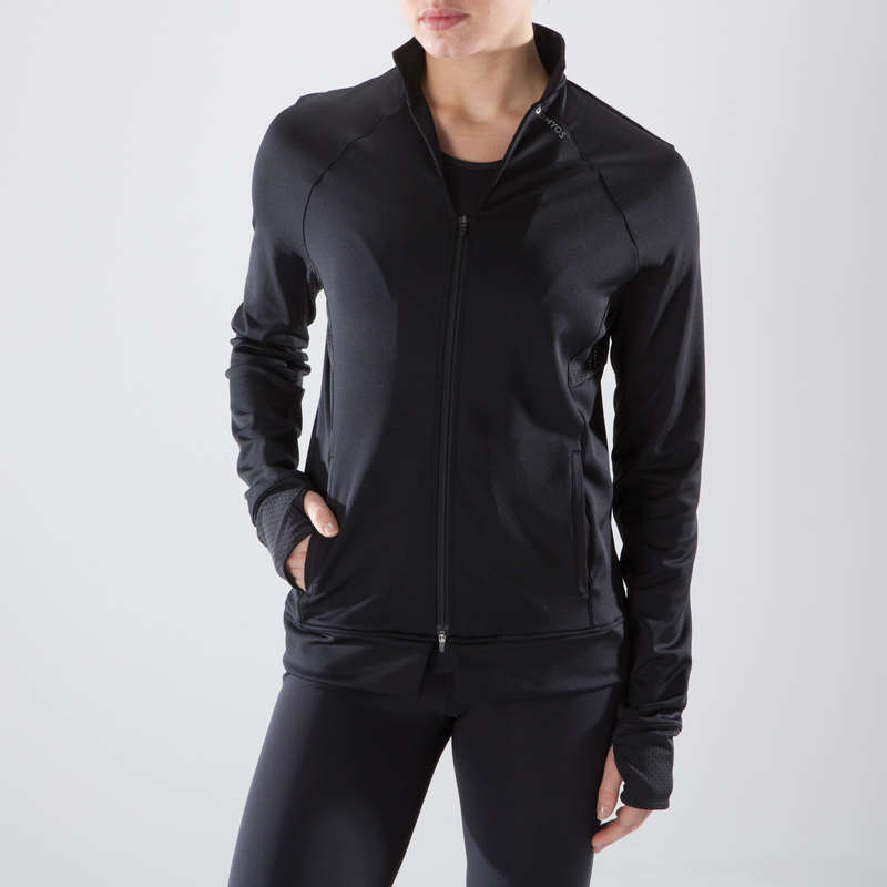 FITNESS CARDIO EXPERT WOMAN CLOTHING Fitness and Gym - FJA 900 Jacket - Black DOMYOS - Fitness and Gym