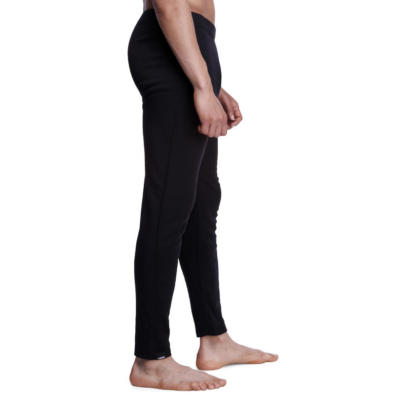 กางเกงตัวในผู้ชายเพื่อการเล่นสกีรุ่น Simple Warm (สีดำ)