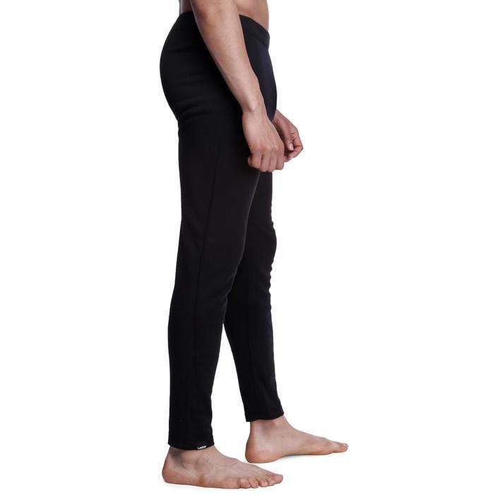 男款滑雪底層長褲100 - 黑色