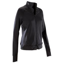 Trainingsjacke 900 Fitness-/Cardiotraining Damen schwarz