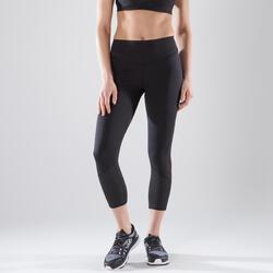Mallas Leggings deportivos 7/8 Cardio Fitness Domyos 900 mujer negro