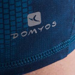 Short de fitness cardio-training mujer con estampados azules 500