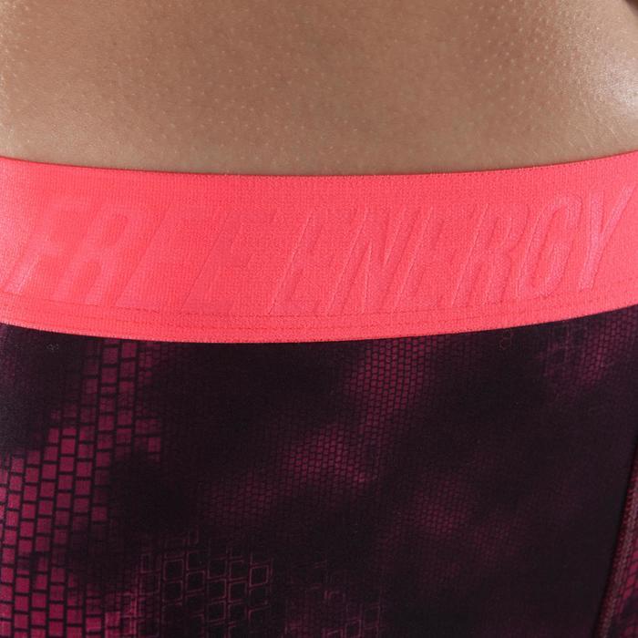 Short fitness cardio-training femme avec imprimés roses 500