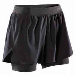 女款有氧健身短褲900-黑色