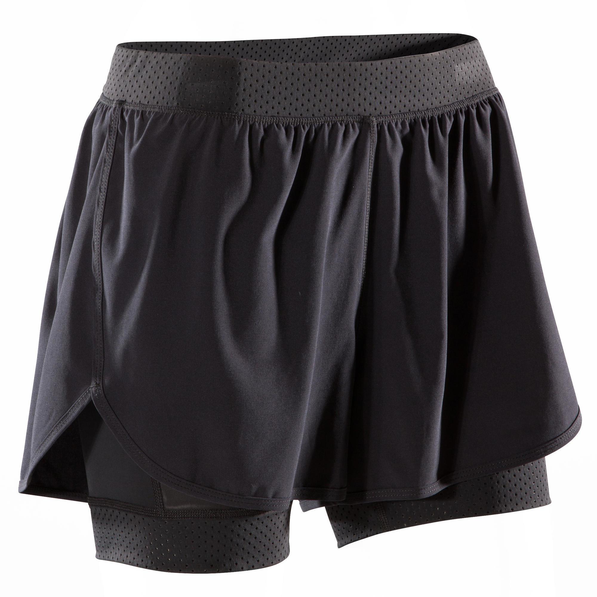 Domyos Sportbroekje fitness 900 voor dames, zwart