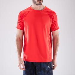 Camiseta de fitness cardio-training para hombre FTS500 rojo