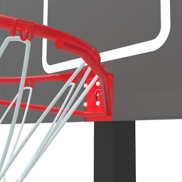 Panier de basket enfant/adulte B400 EASY noir rouge. 2,40m à 3,05m sans outils. - 1357807