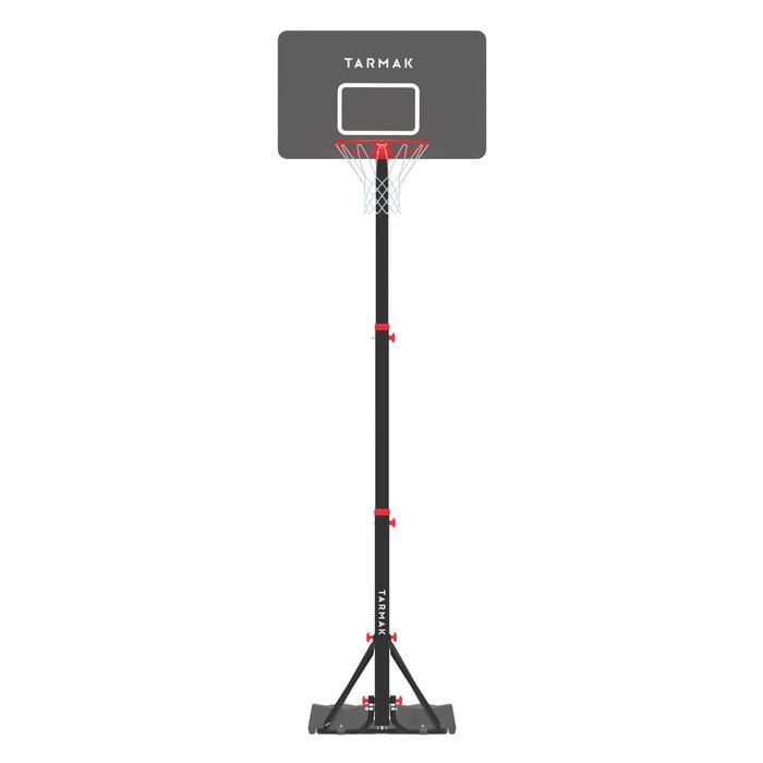 Panier de basket enfant/adulte B400 EASY noir rouge. 2,40m à 3,05m sans outils. - 1357808