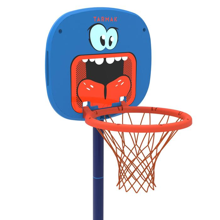 Panier de basketball pour enfant K100 Monstre bleu. 0,9m à 1,2m. Jusqu'à 5 ans. - 1357810