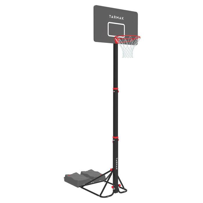 Panier de basket enfant/adulte B400 EASY noir rouge. 2,40m à 3,05m sans outils. - 1357815