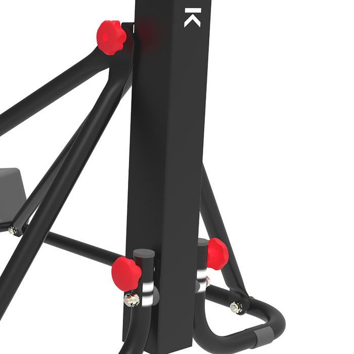 Panier de basket enfant/adulte B400 EASY noir rouge. 2,40m à 3,05m sans outils. - 1357817