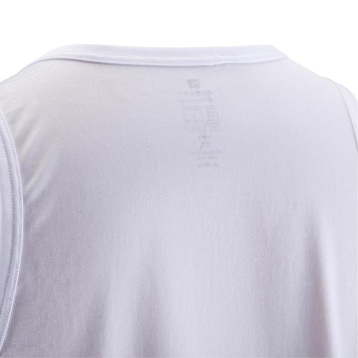 Mouwloos fitness-shirt Energy voor heren, voor cardiofitness, wit
