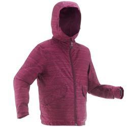 青少年保暖雪地健行外套SH100 - 紫色