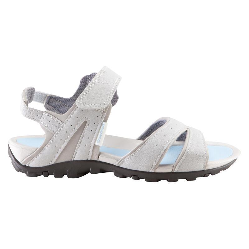 Sandal leo núi dã ngoại Arpenaz 50 cho nữ - Xám