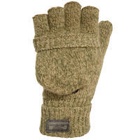 100 Wool Hunting Mittens - Brown