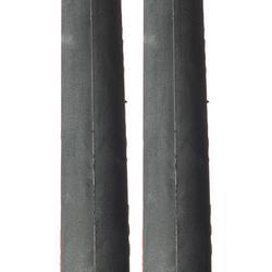 Buitenband racefiets, Set van 2 Dynamic Sport banden rood 700x23 ETRTO 23-622