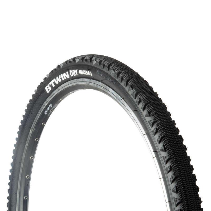 Покрышки для гибридных велосипедов Велоспорт - Покрышка Trekking 1 26x1,95 BTWIN - Запчасти и компоненты