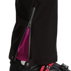 Dames skibroek voor pisteskiën SKI-P PA 580 slim fit zwart