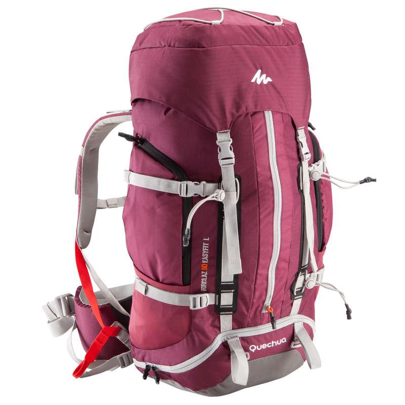 Plecaki 50+ trekking górski Turystyka - Plecak turystyczny Forclaz 50 Easyfit damski QUECHUA - Turystyka