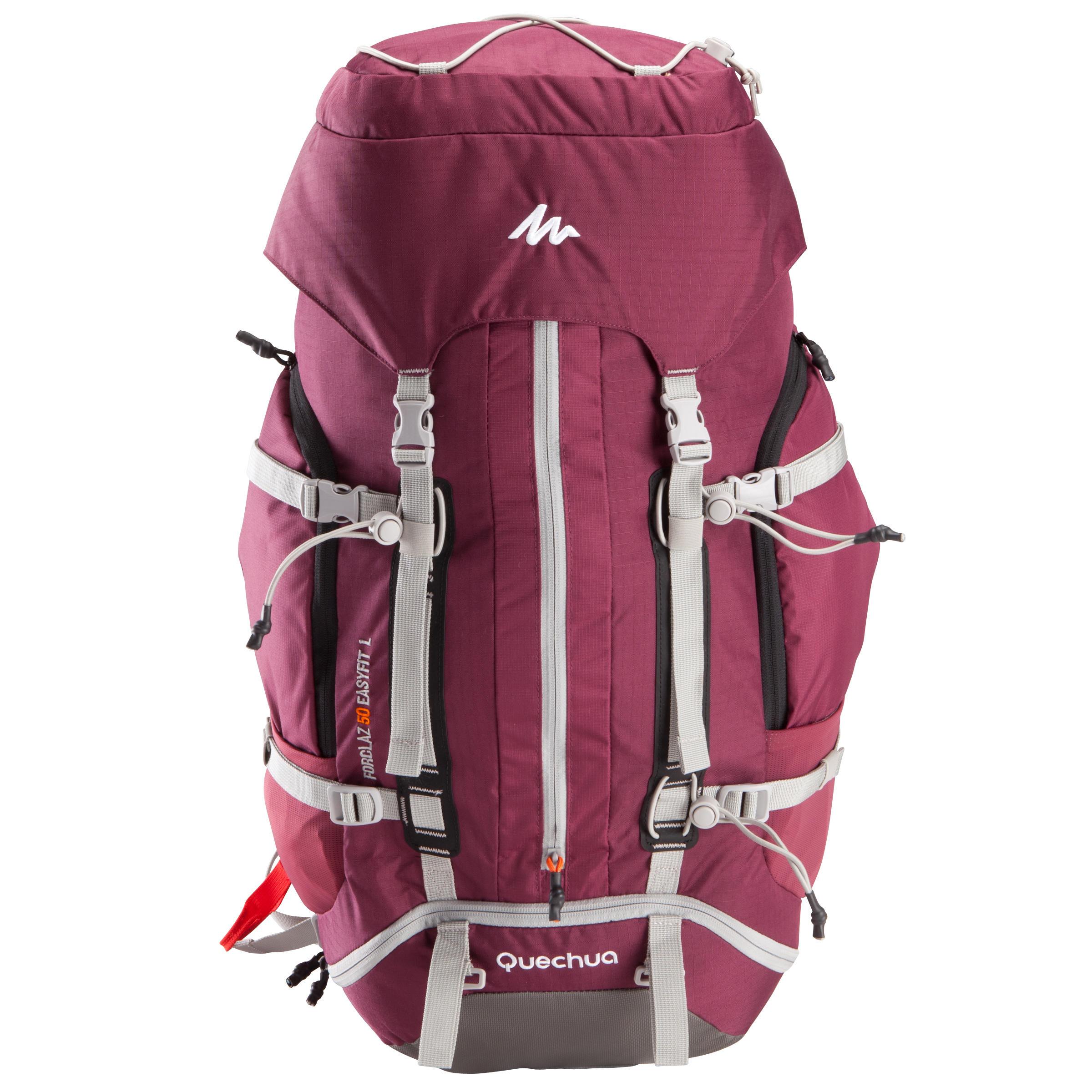 3a68acff63 Sac à dos Trekking montagne 50 l EASYFIT femme violet