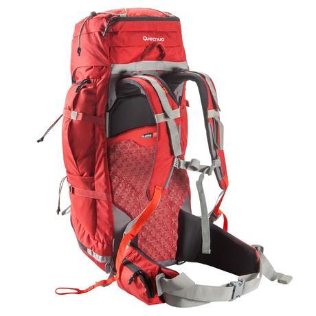 sac dos randonn e easyfit 60 litres homme rouge quechua. Black Bedroom Furniture Sets. Home Design Ideas