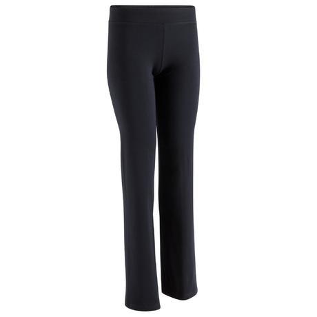 pantalon regular fit noir body training femme domyos by. Black Bedroom Furniture Sets. Home Design Ideas