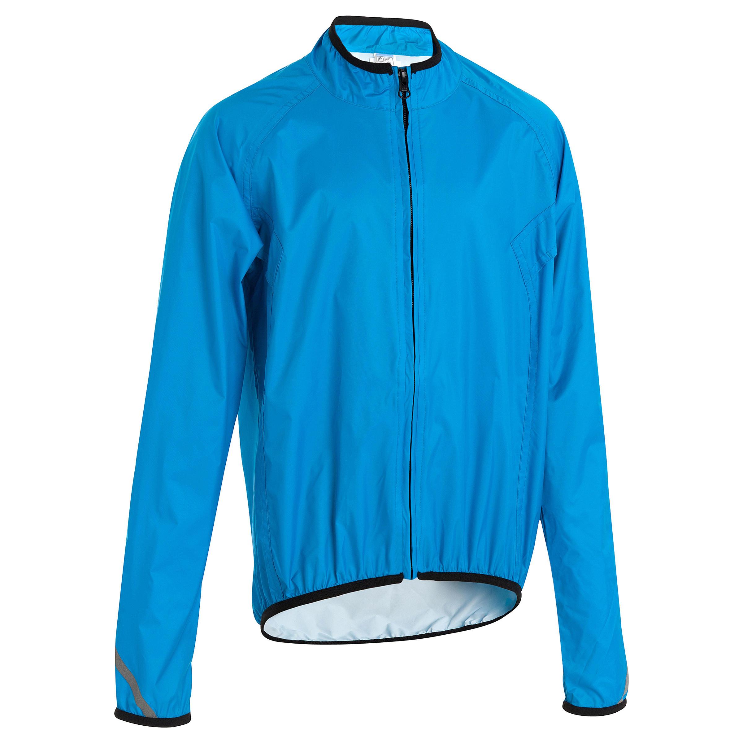 300 Kids' Cycling Waterproof - Blue