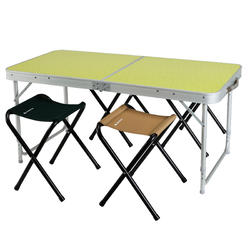 Vouwtafel voor camping / bivak, voor 4 personen, inclusief 4 krukjes