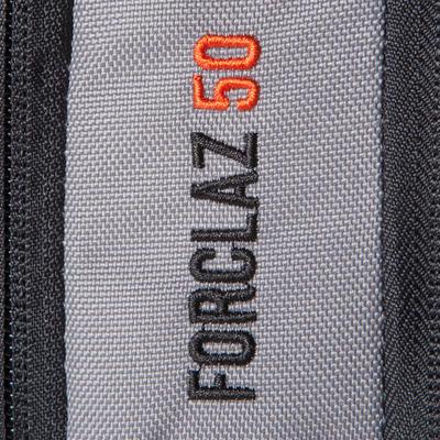 حقيبة رحلات Forclaz 50 لتر - رمادي