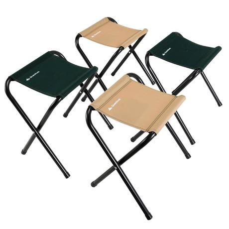 Mobilier camping table 4 personnes avec 4 si ges vert for Table 4 personnes