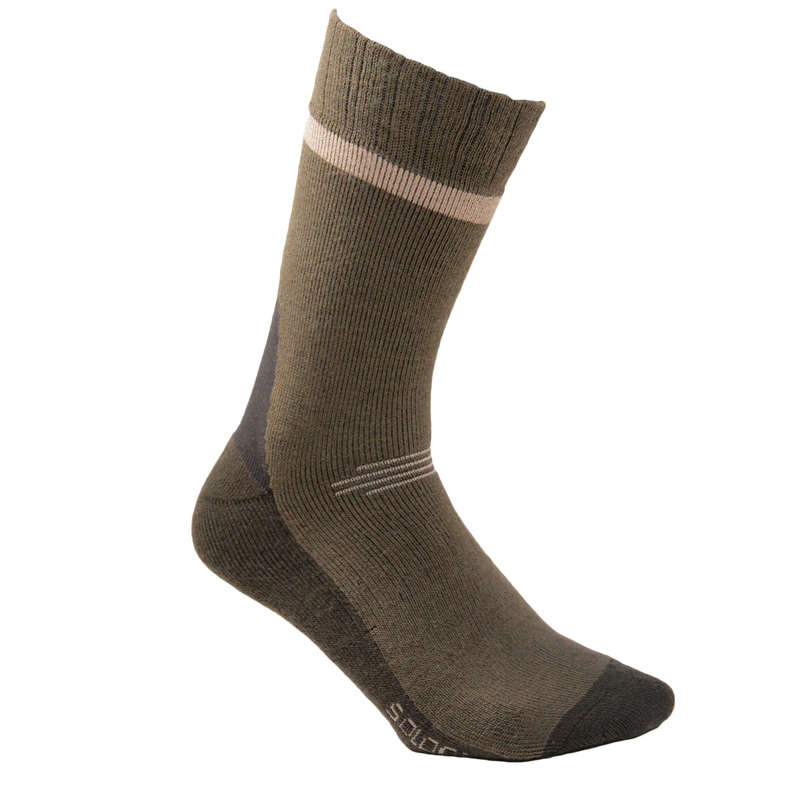 PONOŽKY Myslivost a lovectví - LOVECKÉ PONOŽKY S500W SOLOGNAC - Myslivecká obuv a ponožky