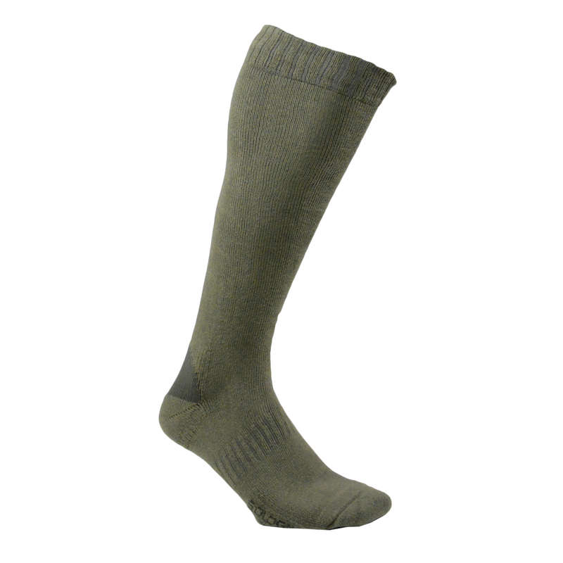 WELLIES SOCKS/ACCESSORIES Shooting and Hunting - High Socks 100 x2 SOLOGNAC - Shooting and Hunting