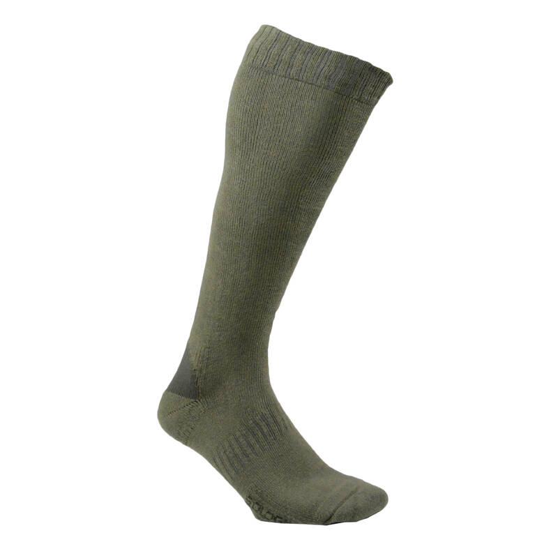PONOŽKY A PŘÍSLUŠENSTVÍ K LOVECKÝM BOTÁM Myslivost a lovectví - PODKOLENKY 100 2 PÁRY SOLOGNAC - Myslivecká obuv a ponožky