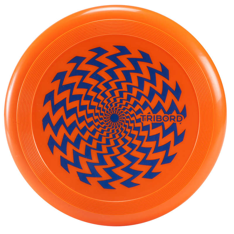 FLYING DISCS / BOOMERANG Frisbees and Boomerangs - D90 Frisbee - Geo Orange OLAIAN - Sports