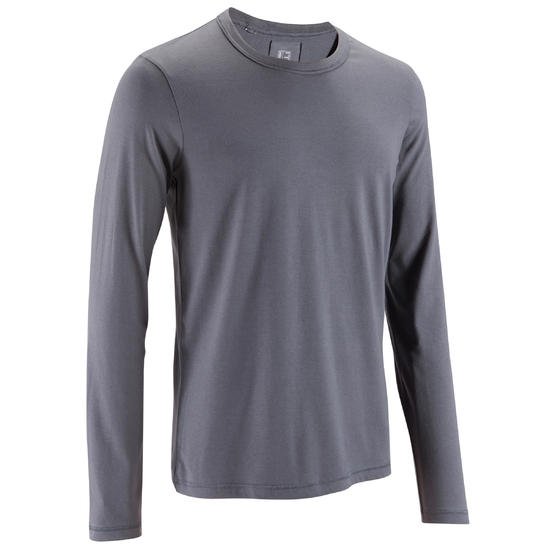 T-Shirt met lange mouwen Gym & Pilates heren - 140202
