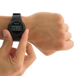 Ditigaal sporthorloge met stopwatch voor heren W100 M zwart - 140214