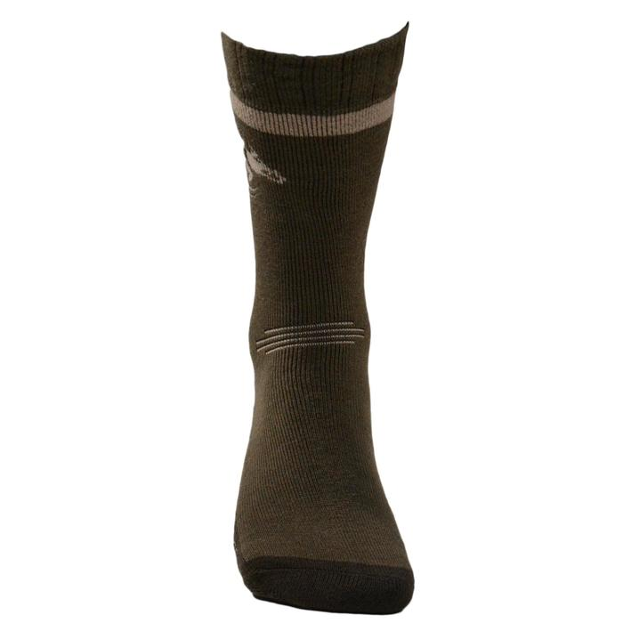 Chaussette chasse Winter MIDDLE sanglier marron - 140250