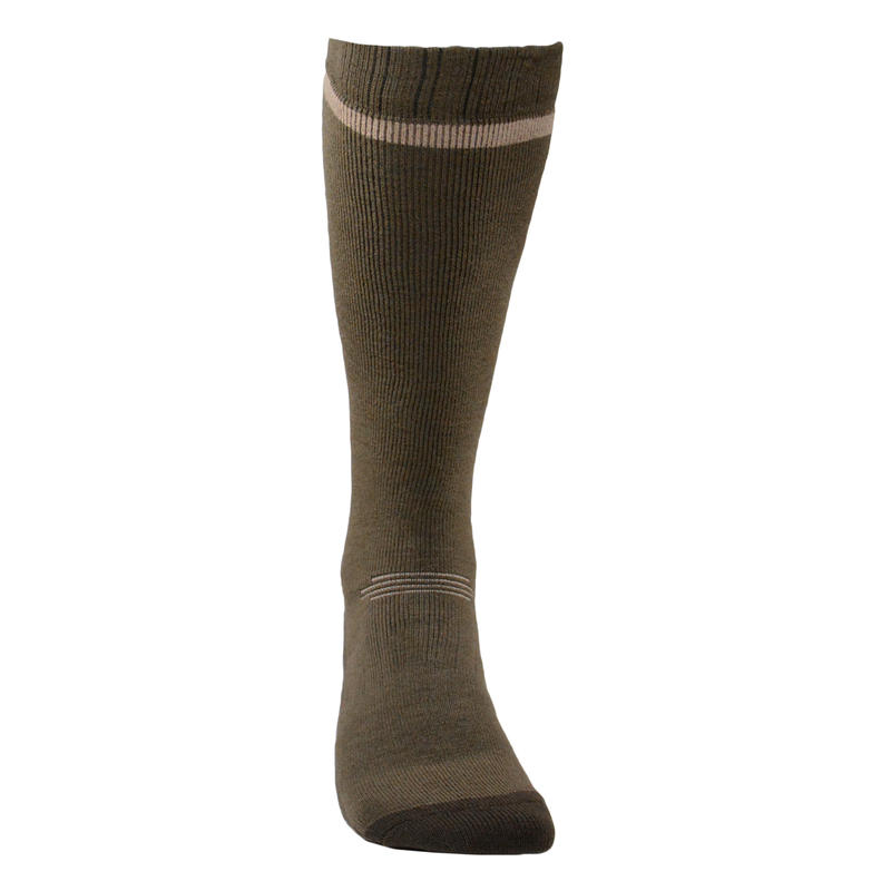 Calcetines caza Winter largo x 2 café